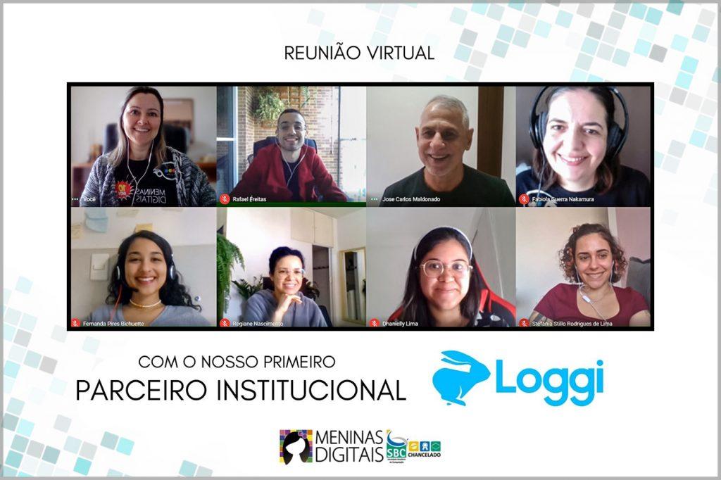"""Reunião de integração com a primeira empresa """"Parceira Institucional"""" das Meninas Digitais"""
